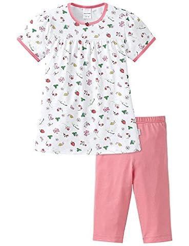 Schiesser Mädchen Zweiteiliger Schlafanzug Md kurz, Gr. 92, Weiß (weiss 100)