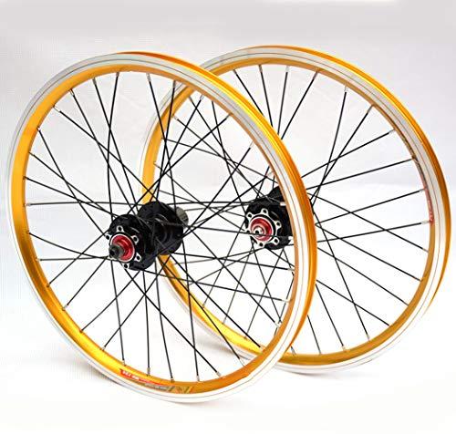 Fahrrad Laufrad Mountainbike Rad Vorne Hinten Set Felgen Disc 20 Inch Scheibenbremse 4 Lager Zubehör Aus Aluminum Alloy