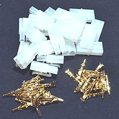 BSP RC R/C 7.2v Tamiya Battery Large Male Female Connector Plug Set Gold Pins 10