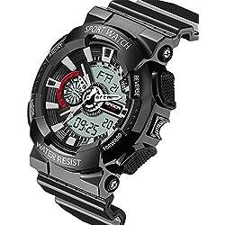 HUKOER 2016 New Brand Fashion Watch Men Style Waterproof Sports Military Watches Shock Digital Watch for Men
