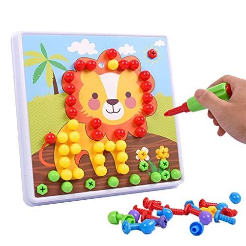 Igemy Kinder Bohren Spielzeug Gebäude 3D Demontage Schraube Puzzle Lernen Toolbox Spielzeug (Mehrfarbig)