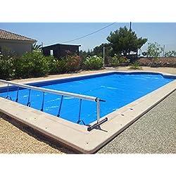Enrollador piscina International Cover Pool para manta térmica o cobertor solar hasta 4,2 metros (Con reductor de Fuerza)