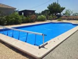 Aufroller Pool Abdeckung Solarfolie Schwimmbad max 4,2 Meter Edelstahl und Aluminium (Mit Minderer Kraft)