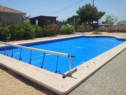 International Cover Pool Aufroller Pool Abdeckung Solarfolie Schwimmbad max 4,2 Meter Edelstahl und Aluminium (Mit Minderer Kraft)