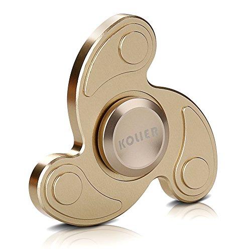 #KOLIER Fidget Spinner, Hand Toy Spinner Ultra schnelle Finger Spielzeug, Hochgeschwindigkeit Spins Anti Stress und Entspannung Toy für Kinder und Erwachsene Geschenke (golden)#