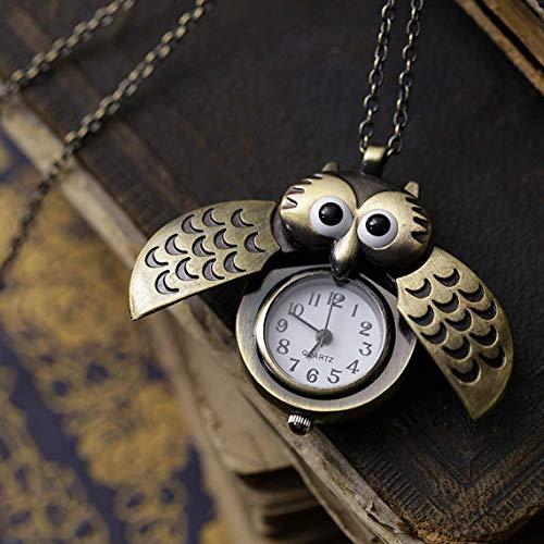 DinRoll Eule öffnen Uhr-Legierungs-Halsketten-hängende Verzierung Uhr-medizinische Krankenschwester-Uhr -