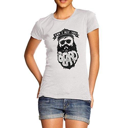 T-Shirt Funny Geek Nerd Hilarious Joke Can I Buy You A Beard Women's T