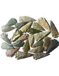25 pointes de la flèche 6-8,5cm reproductions selon âge de pierre
