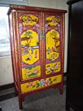 Antiker Chinesischer Schrank Schrank Tibet Asiatika Asien Kabinetschrank 2-türig China Breite105xHöhe175cm