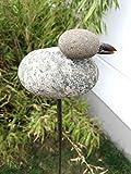 Zen Man para jardín (Acero Inoxidable óxido de Escultura de jardín de Piedra Jardín Figure Mano H120* 16* 8cm 101585
