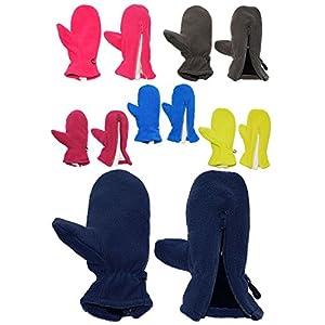 alles-meine.de GmbH Fausthandschuhe – Fleece – mit Reißverschluß – Größe: 1 bis 2 Jahre –  dunkelblau  – LEICHT anzuziehen ! mit Daumen – Fleecehandschuhe / Kinder & Babyhandsc..