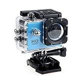 Ularma 12MP HD 1080p Fahrrad Auto Sport Mini DV Actionkamera wasserdicht Helmkamera (blau)