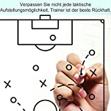GHB Coaches Taktiktafel Taktiktafel fussball Coach-board mit Stifte, Radiergummi, Magneten - 6