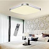 SZYSD LED Deckenleuchte Badleuchte Deckenlampe Kante Flurleuchte (24W Dimmbar+FB)
