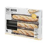 Birkmann 1010750110 Baguette-Blech, Easy Baking, 38,5 x 28 cm, Kunststoff, Grau, 5 x 3 x 2 cm, 5 x 3 x 2 cm