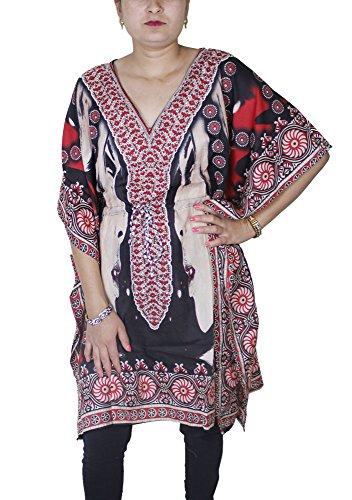 Tiro vestito caftano estate moda femminile sopra la parte superiore di usura della spiaggia formato libero