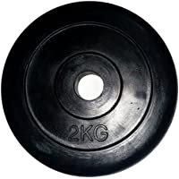 LiveUP Sports - Disco Peso 1pz 2Kg Foro 25mm Gomma Naturale Ghisa Bodybuilding Fit Bilanciere