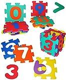 alles-meine.de GmbH XL Set: Puzzle Teppich aus Moosgummi - 10 Matten -  Zahlen & Nummern von 0 bis 9