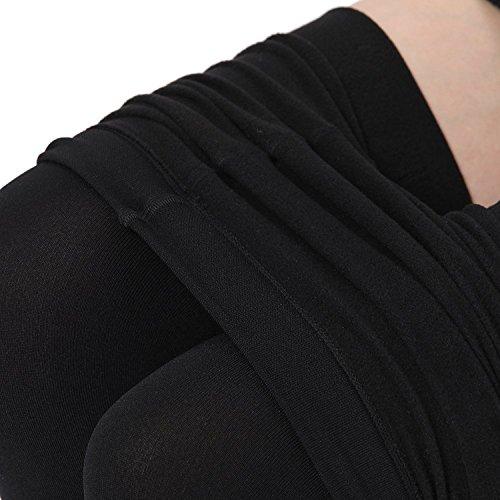 KOROSHNI Girl's Imported Fleece Warm Thermal Hot Winter Leggings / Full Foot Fleece lined Tights Stocking / Thermal Stretchy Leggings Pants / Fleece Inside For Winters / Leg Warmers /leggings for womens -L SIZE