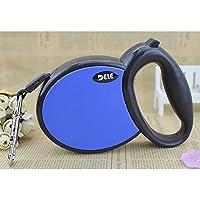 ZQ@QXPerro de tracción cinturón mascota perro tracción cuerda 5 metros, 5 m, azul