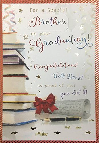 Tarjeta de felicitación graduación macho para hijo sobrino Brother Nieto o amigo