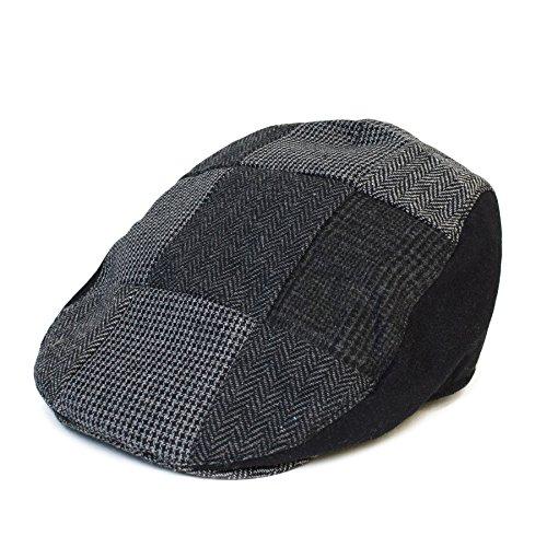 Newsboy Hut Tweed (Herren/Damen/Unisex 'Flat Cap' 'Newsboy' Flache Schiebermütze Hüte/Kappe Hut)