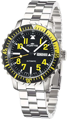 Fortis Herrenuhr Maritime B-42 Marinemaster Day/Date Yellow Automatik 670.24.14 M