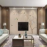 Papel tapiz en relieve 3D con patrón no tejido minimalista moderno para la sala de estar Dormitorio 0.53m (20.8') * 10m (32.8 ') = 5.3㎡ (57sqfeet) Impresión color café 53x1000cm