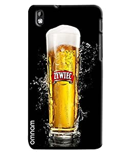 Omnam Beer Glass Fully Filled Printed Designer Back Cover Case For HTC Desire 816