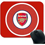 ARSENAL Rectangle Shape Personalised Soft Touch Mouse Pad Mat Gift Image Customised