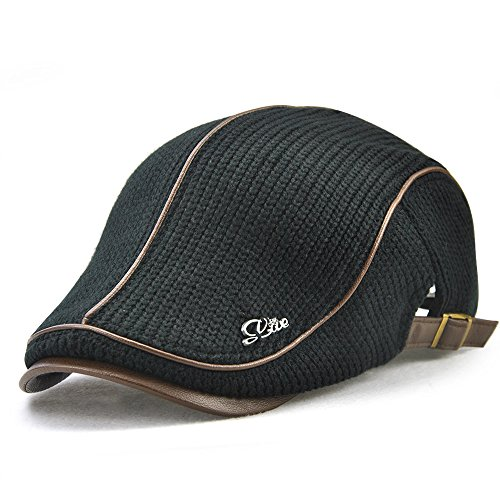 af74ced208d Nameblue Mens Baseball Caps Flat Cap Classic Knit Flat Hat Adjustable  Fashion Duckbill Ivy Irish Cap