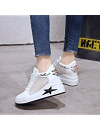 GAOLIM Las Estrellas En La Primavera Zapatos De Mujer Malla Transpirable Zapatos Deportivos Blanco Con Espesor...
