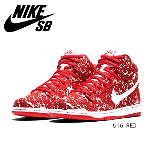 Nike Uomo Dunk High Premium Sb scarpe sportive rosso Size: 42