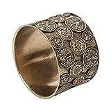Alpenflüstern Trachten-Armreif Münzen - Damen-Trachtenschmuck, traditionelles Trachten-Armband antik-gold-farben DAB036