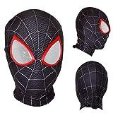 XWQXX Spider-Man Face Mask Fiesta de Disfraces de Halloween Máscara de Fiesta Capucha para Juego de Roles Traje A Máscara de Talla única,B-OneSize
