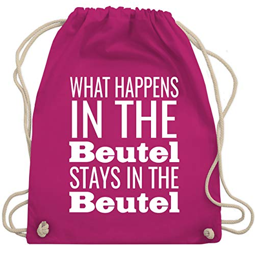 Festival Turnbeutel - What happens in the Beutel stays in the Beutel - Unisize - Fuchsia - WM110 - Turnbeutel & Gym Bag