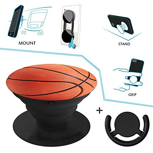 Ausziehbarer Handy Ständer und Handgriff und Handyhalter für Smartphones und Tablets, Multifunktion Universal Mount 2 in 1 (Weißen Billig Anzug)