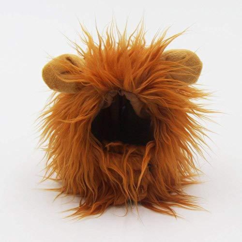 YHY Winter Warme Löwenmähne Hut Haustier Kostüm Perücke für Hund Katze Festival Kostüm