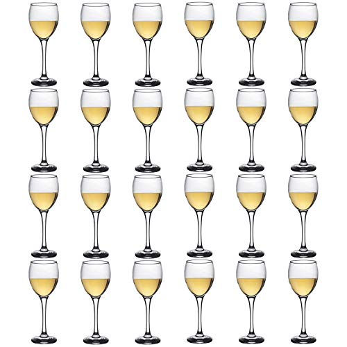 Argon Tableware White Wine Glasses - Party Pack of 24 Glasses - 245ml (8.6oz)