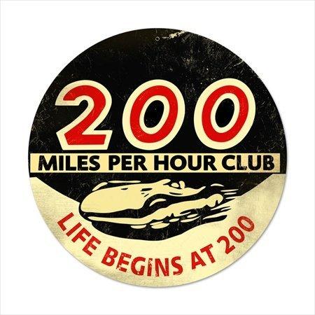 Past Time Schilder frc017200MPH Automotive Rund Metall Schild -