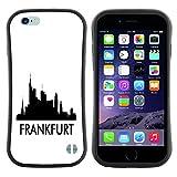 STPlus Frankfurt, Deutschland Stadt Skyline Silhouette Postkarte Anti-Rutsch Weichen Stoßfest Hülle Tasche Schutzhülle für Apple iPhone 6/iPhone 6S