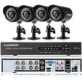 FLOUREON Alarms Systems 1 X 8CH 960H Onvif Hybrid DVR   4 X