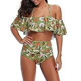 Luckycat 2019 Verano Ropa de Baño, Mujer Tankinis Bikinis Brasileños, Mujer Chicas Dama Disfraz Acolchado Bañador Floral Monokini Playsuits Trajes de Baño Bikini