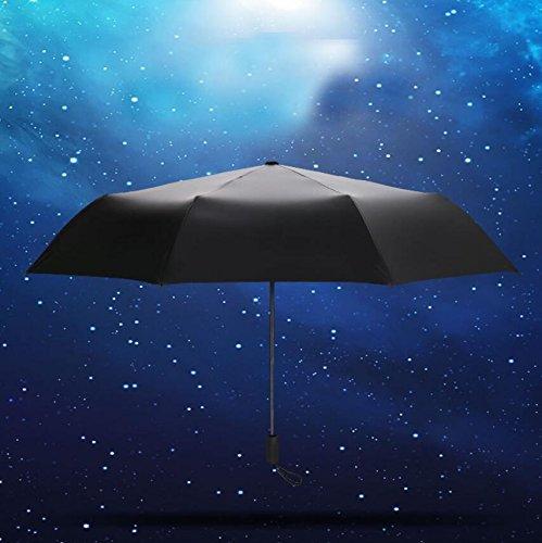 NWYR Regenschirm Sternenhimmel Tri-Fold Easy Carry Regenschirm UV Schutz Frauen Falten Sonnenschirm , outer black glue inside the - Black Lace Sonnenschirm