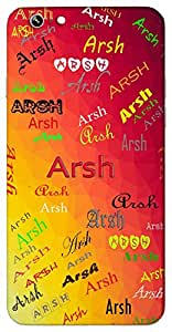 Arsh (Dominion Crown) Name & Sign Printed All over customize & Personalized!! Protective back cover for your Smart Phone : Moto G2 ( 2nd Gen )