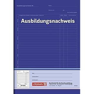 Brunnen 104257001 Berichtsheft Ausbildung / Ausbildungsnachweisheft (A4, 28 Blatt, 1 Woche je Seite)