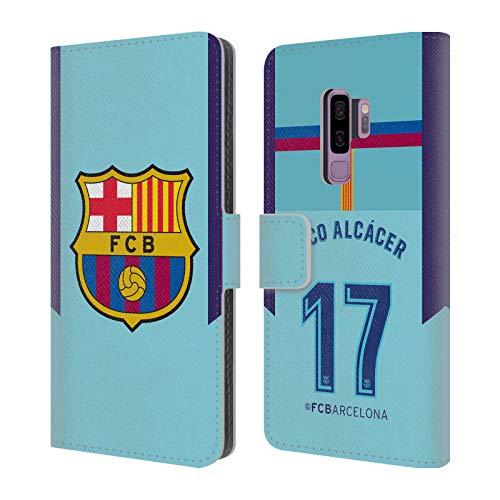 Head Case Designs Offizielle FC Barcelona Paco Alcácer 2017/18 Spieler Away Kit Gruppe 1 Leder Brieftaschen Huelle kompatibel mit Samsung Galaxy S9+ / S9 Plus