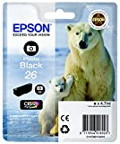 Epson C13T26114022 Foto Black Original Tintenpatronen Pack of 1 für Epson C13T26114022 Foto Black Original Tintenpatronen Pack of 1