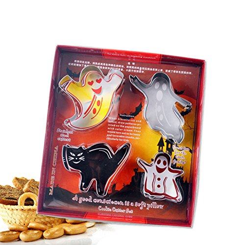 JIALI Halloween Serie Backen Kuchen Formen Edelstahl Cookie Formen Set
