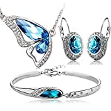 Shining Diva Blue Crystal Combo Jeweller...